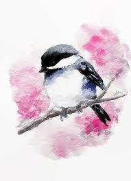 watercolor tutorial chickadee original watercolor bird illustration chickadee painting animal art