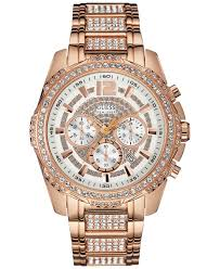 guess bracelet rose gold images Lyst guess men 39 s chronograph crystal accent rose gold tone jpeg