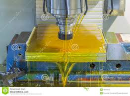 milling machine cnc with oil coolant stock photo image 49753275