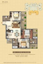 1400 Sq Ft 3 Bhk 1400 Sq Ft Apartment For Sale In Mahagun Mantra I At Rs
