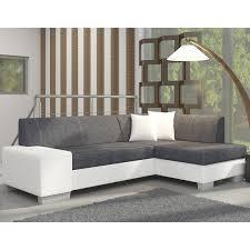 canap d angle blanc et gris canapé d angle avec lit d appoint gris et blanc en tissu et pu