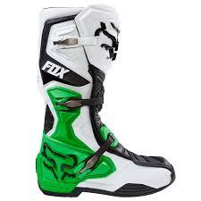 fox motocross fox mx boots comp 8 white black green limited edition 2017