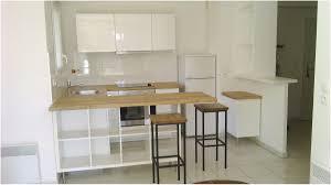 cuisine avec comptoir bar creer un comptoir bar cuisine beauséparation de cuisine avec kallax