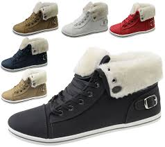 womens warm boots size 12 womens fur lined boots high top ankle trainer sneaker pumps