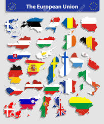 Flag Of All Countries The European Union Map And All The Countries Flags Of The Member