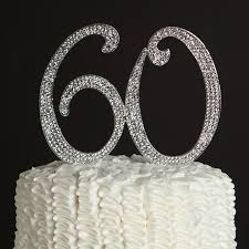 amazon com 60 cake topper for 60th birthday or anniversary silver