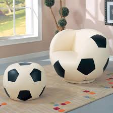 kids sports chairs large kids soccer ball chair and ottoman lowest