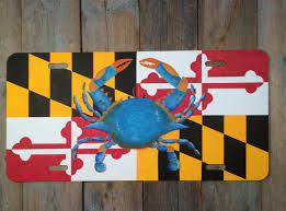 Georgia Flag License Plate Front License Plate With Maryland Flag And Blue Crab Maryland