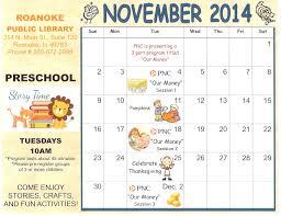 6 best images of preschool calendar printable november 2014