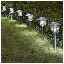 Solar Path Light Seasons Courtyard 6 Pack Stainless Steel Solar Path Light 5 Lumens