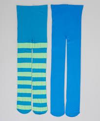 Light Blue Tights Light Blue U0026 Lime Green Stripe Tights Set Girls Zulily
