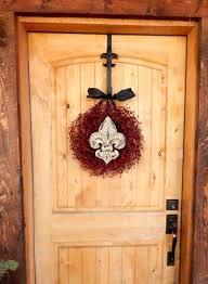 fleur de lis wreath housewarming gift wedding gift burlap door