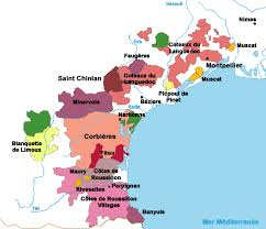 map of perpignan region languedoc roussillon wine map