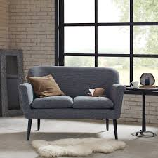 High Back Settee With Arms Amazon Com Davenport Rolled Arm Settee Charcoal See Below