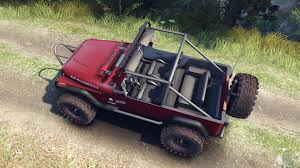 maroon jeep yj 1987 open top maroon for spin tires
