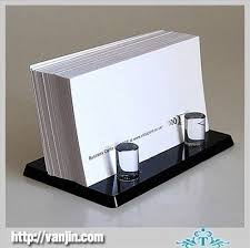 business card stand mini ingenious black tabletop acrylic name