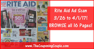 rite aid ad scan for 3 26 to 4 1 17 browse all 16 pages
