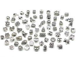 nambeads 10 x mixed tibetan silver charms to fit pandora style