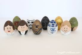 to make star wars painted easter eggs