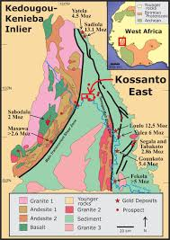 Map Of Mali Ashanti Gold Intersects Wide Intervals Of Gold At Gourbassi West