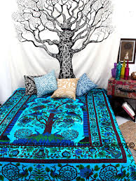 hippie indian duvet cover queen size doona cover tree of life dorm