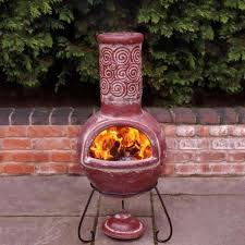 chiminea clay outdoor fireplace portable unique and useful