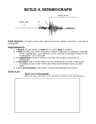 seismogram worksheet calleveryonedaveday