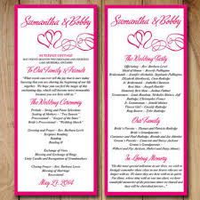 wedding program layout template best wedding ceremony program templates products on wanelo
