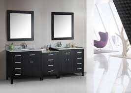 bathroom sirius double sink vanity with black cabinets over toilet
