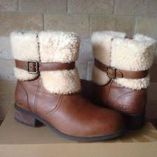 size 12 womens ankle boots australia ugg australia blayre ii leather chestnut boots womens 6 ebay