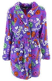 emoji robe low price on h2g omg emoji purple plush bathrobe for juniors s m