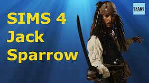 how to create a captain jack sparrow pirate costume jack sparrow pirates of the caribbean sims 4 creation youtube