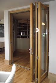 convert accordion doors interior to french door image of the accordion doors interior