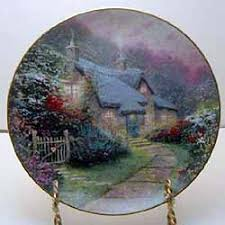 garden cottage collector plate by kinkade