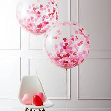 oversize balloons ruby heart confetti filled balloon confetti confetti