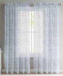 Embroidered Curtain Panels Vcny Home Blue Elizabeth Embroidered Curtain Panel Zulily