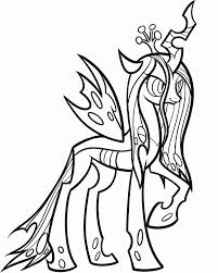 mlp printable coloring pages queen chrysalis glum