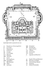 baths of caracalla floor plan floor plan of the baths of caracalla roma thermae romanae