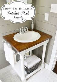 do it yourself bathroom vanity 5 steps to building a do it yourself butcher block bathroom vanity