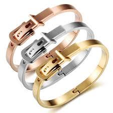 stainless steel buckle bracelet images Kylie jenner style cartier love ring clasps belt buckle bracelets jpg