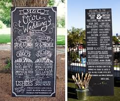 chalkboard wedding program eco ideas for an awesome green wedding planning wedding