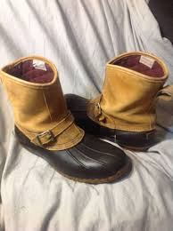 ll bean s boots size 12 s ll bean 9 leather lounger buckle bean boots duck size 12