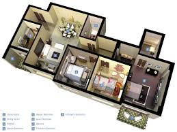 14 25 more 3 bedroom 3d floor plans bungalow house design with