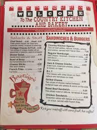 Country Kitchen Restaurant Menu - online menu of country kitchen u0026 bakery restaurant lampasas