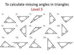 missing angle in triangle worksheet free worksheets library