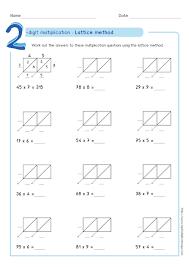 3 digit by 1 digit multiplication worksheets lattice method multiplication exles worksheets test