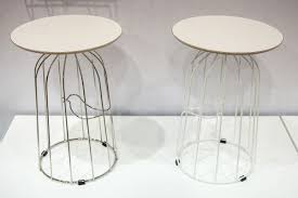 Wire Side Table Wire Furniture Accents Shape Spaces In Unexpected Ways