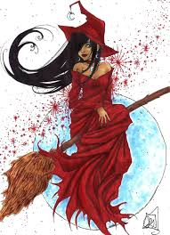 halloween 2009 red witch by roots love on deviantart