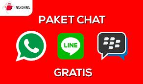 kuota bbm dan fb telkomsel cara daftar paket chat whatsapp bbm dan line gratis telkomsel
