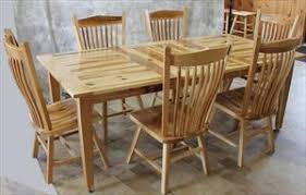 Amish Dining Tables Amish Hickory Furniture Rustic Amish Hickory Furniture
